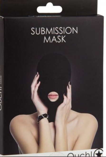 This comfortable Submission mask is designed to stretch completely over the head and closes easily at the back with a zipper.