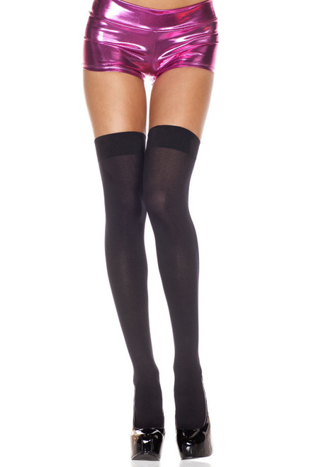 Opaque Thigh Hi - One Size - Black