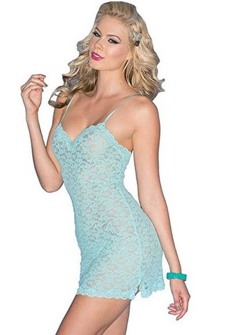 BW1526-STRETCH LACE CHEMISE