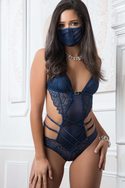 2pc Mask up Lacy Teddy
