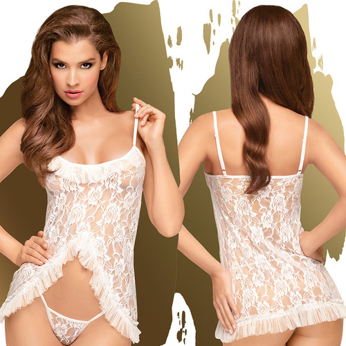 Penthouse Flawless Love Baby Doll With Thong-White