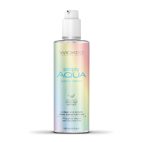 Wicked Sensual Care Aqua Special Edition Water Based Lubricant - 4 Oz