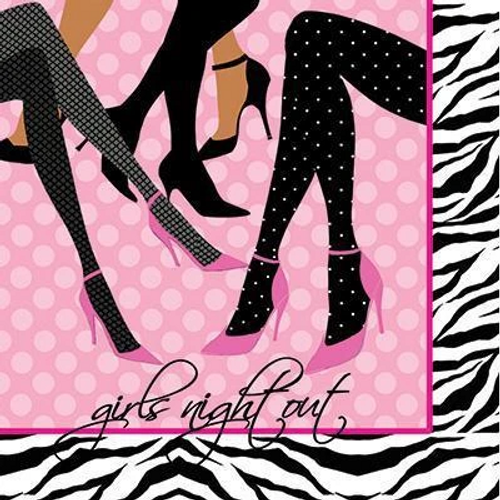Sassy & Sweet Bachelorette Party Beverage Napkins - Girls Night Out