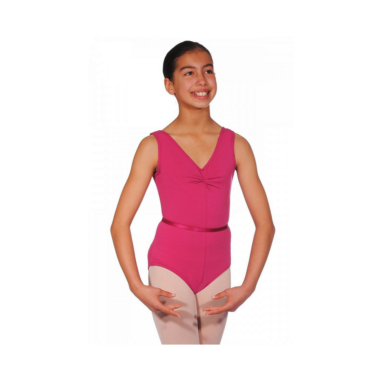 Pink New Style RAD Sleeveless Leotard And Belt Size 0 Age 3-4