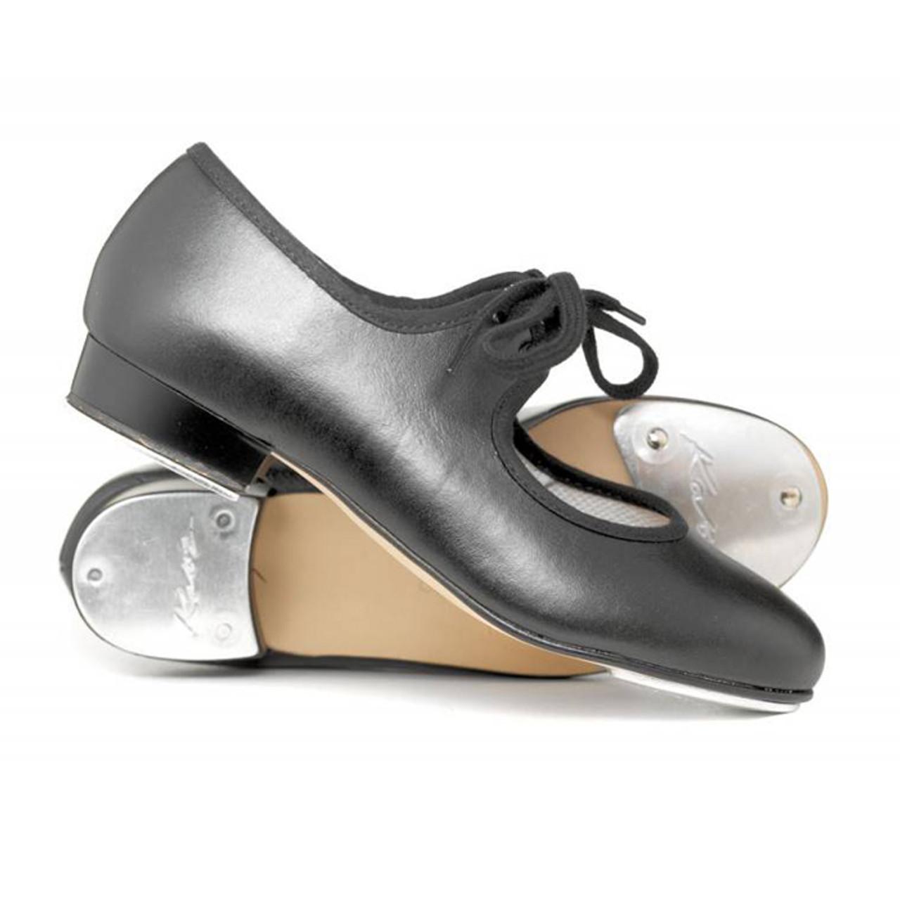Girls Ladies Silver PU Low Heel Tap Dance Shoes All Sizes By Katz Dancewear