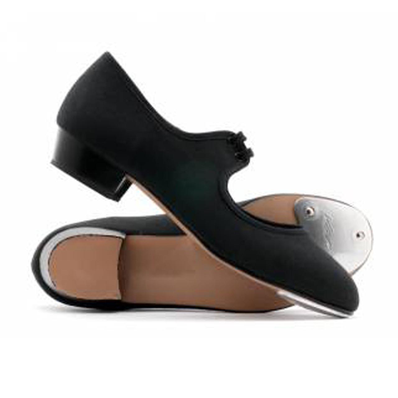 Girls Ladies Black Canvas Low Heel Tap Dance Shoes All Sizes By Katz Dancewear