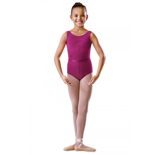 Cremona School of Dance Cotton Rouche Front Tank Leotard (Belt Sold Separately)