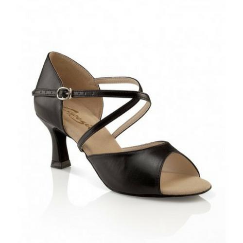 "Capezio Eva Social Latin Dance Shoe Black With 2"" Heel"