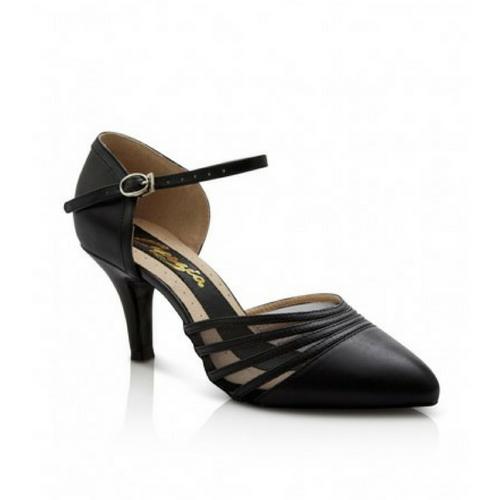 """Capezio Alexa Ballroom Shoe Black With 2.5"""" Heel"""