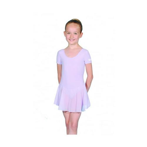 Roch Valley Rebecca attached skirt Girls  Lilac Cotton//Lycra Leotard