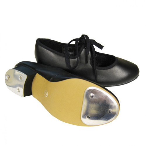 Low Heeled Tap Shoe PU Upper With Fitted Heel and Toe Taps