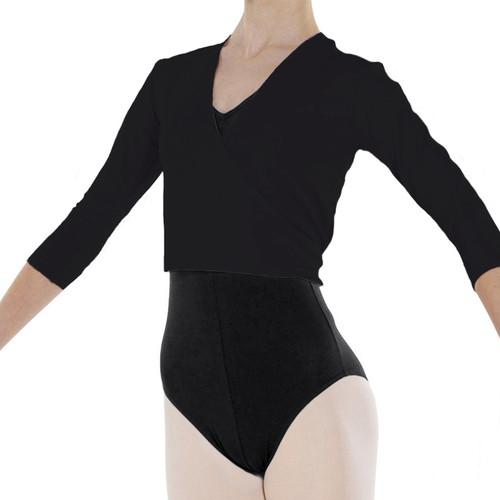 Rosalle School of Dance Black Cotton Freed Ballet Wrap