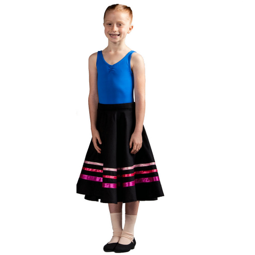Julie Sianne Theatre Arts Character Skirt (Pink Ribbons) Grade 1 & 2
