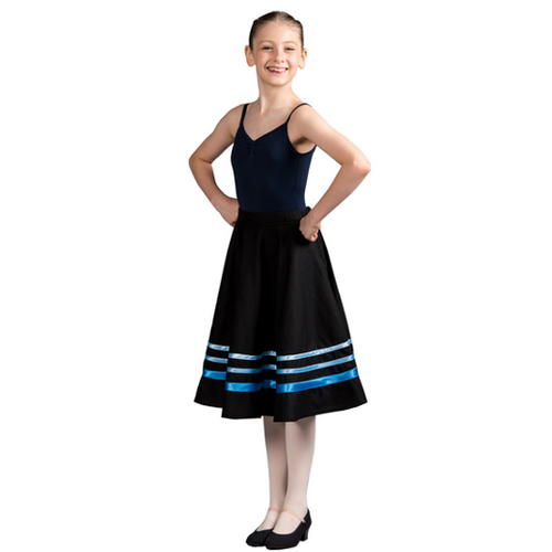 Julie Sianne Theatre Arts Character Skirt (Blue Ribbons) Grade 3