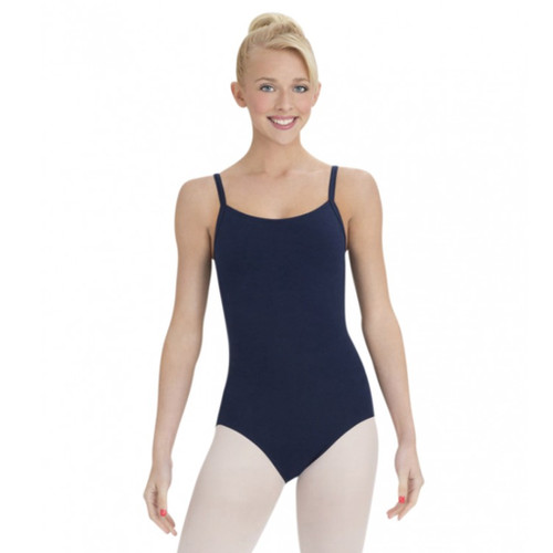 Rebecca Jackson Dance Academy Navy Camisole Leotard With Bra Tek