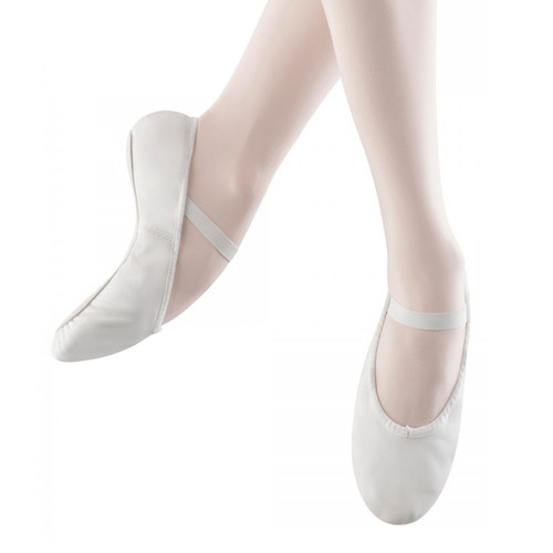 Summerscales Performing Arts White Bloch Arise Full Sole Leather Ballet Shoe