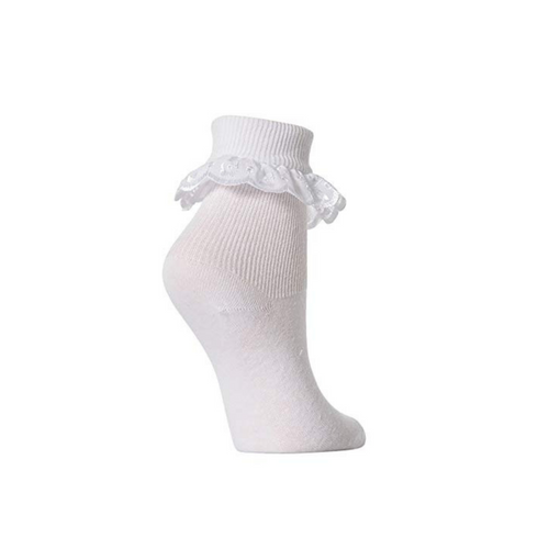 Summerscales Performing Arts White Frilly Ballet Socks