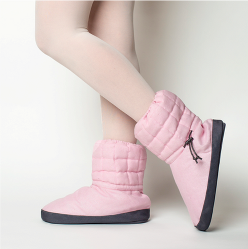 Russian Pointe Pink Quilted Warmup Booties  – Sparkling Collection
