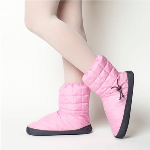 Russian Pointe Pink Quilted Warmup Booties