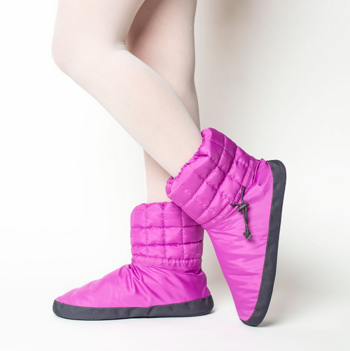 Russian Pointe Purple Quilted Warmup Booties