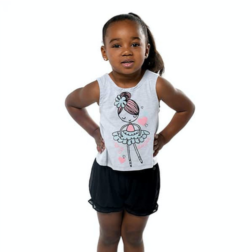 Tiny Dancer Itty Bitty Curtain Call Top (Cropped Tank)