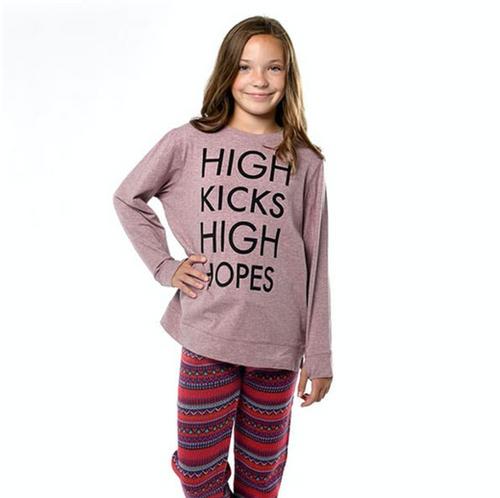 High Kicks High Hopes 365 Crew (Tri Blend Fleece Sweatshirt)