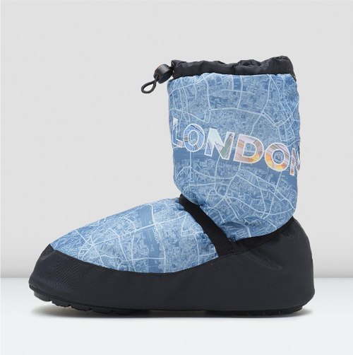 Bloch Collection London City Map Warm-Up Booties