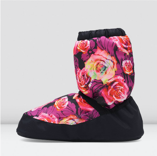 Bloch Collection Floral Warm Up Booties