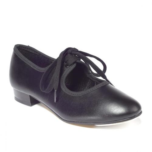 T&P Black Patent Low Heel PU Tap Shoe