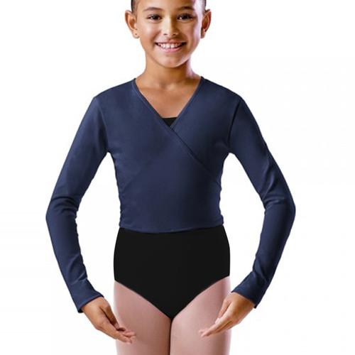 Joanne Ward Navy Cotton Ballet Wrap