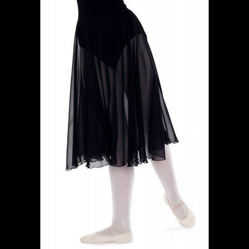 Joanne Ward Black Circular Chiffon Skirt