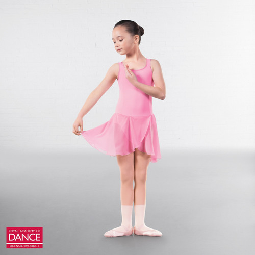 Karen Blackburn Dance Academy Basic RAD Sophia Pink Skirted Leotard