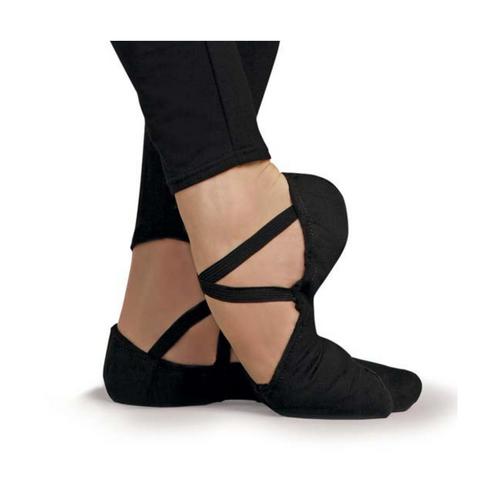 LESTA Cobra Black Canvas Ballet Shoe