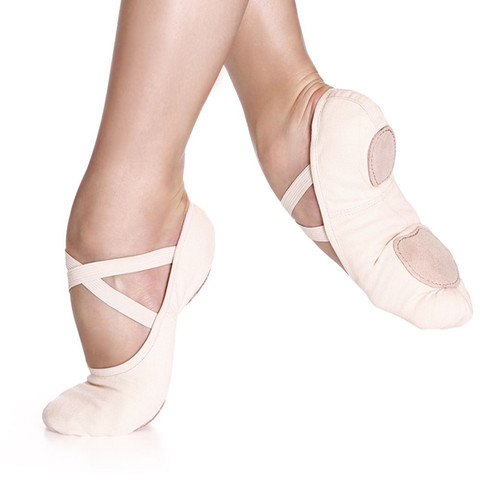 Karen Blackburn Dance Academy Pink Canvas Split Sole Stretch Ballet Shoe (Pre Sewn)