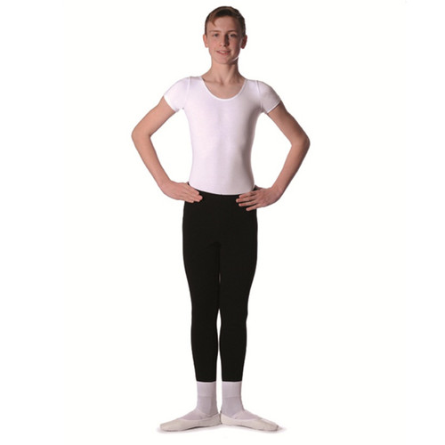 Karen Blackburn Dance Academy Basic White RV Adam Short Sleeve Leotard