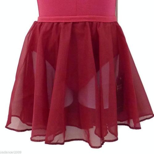 LESTA Plum Chiffon Skirt