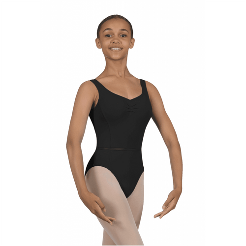 Karen Blackburn Dance Academy Basic Black Wide Strap Leotard