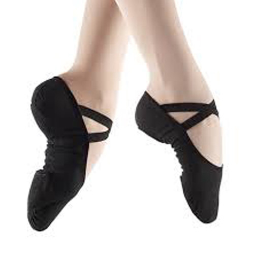 LESTA Black So Danca Split Sole Stretch Canvas Ballet Shoe (Pre Sewn)