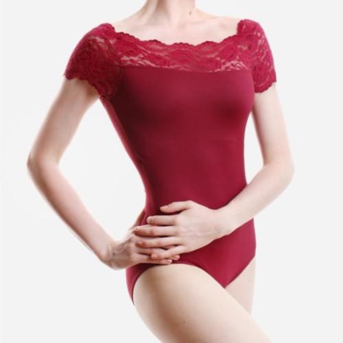 SoDanca Ladies Off-The-Shoulder Lace Leotard