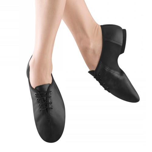 Bloch Neo Jazz Leather Jazz Shoe With Rubber Split Sole Lace Up