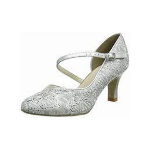 So Danca Sparkle Fabric Suede Sole Shoe