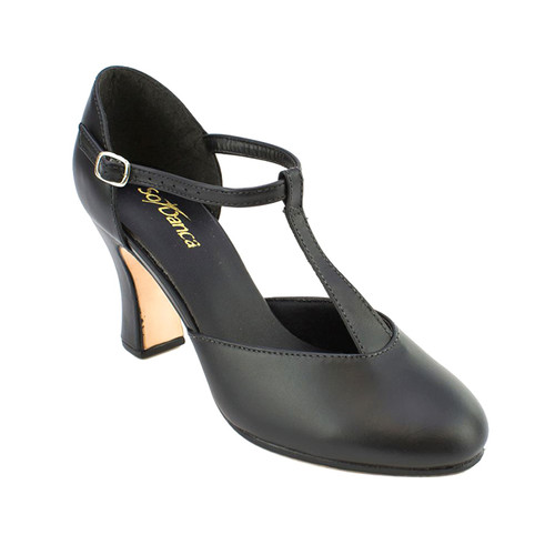 So Danca Leather T Bar Leather Character Shoe