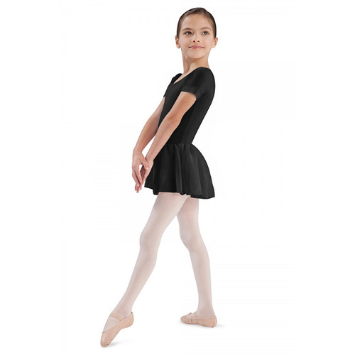 Bloch Tiffany Short Sleeved Leotard With Chiffon Skirt