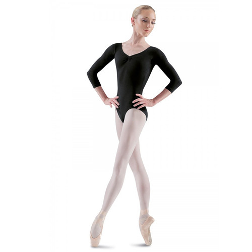Bloch Ballon Pinch Front Low Back 3/4 Sleeve Leotard