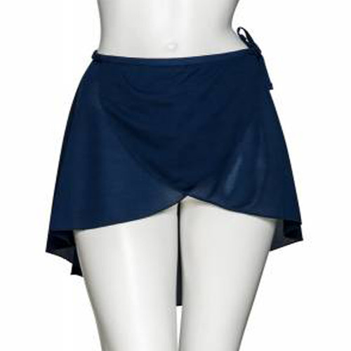 Katz Wrap-Over Poly-Crepe Skirt Jr