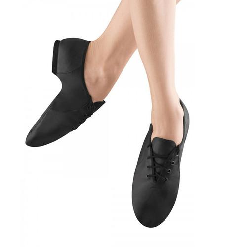 Arts Education Jazz Soft Leather Jazz Shoe With Rubber Split Sole Lace Up