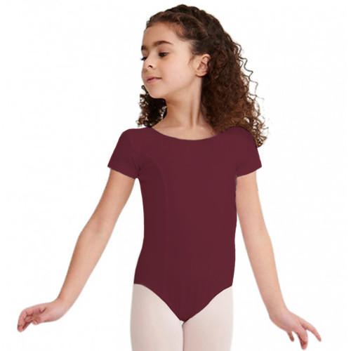 Arts Education Burgundy Cap Sleeve Leotard