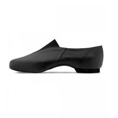 Arts Education Pure Jazz Leather Jazz Shoe with Rubber Split Sole Black