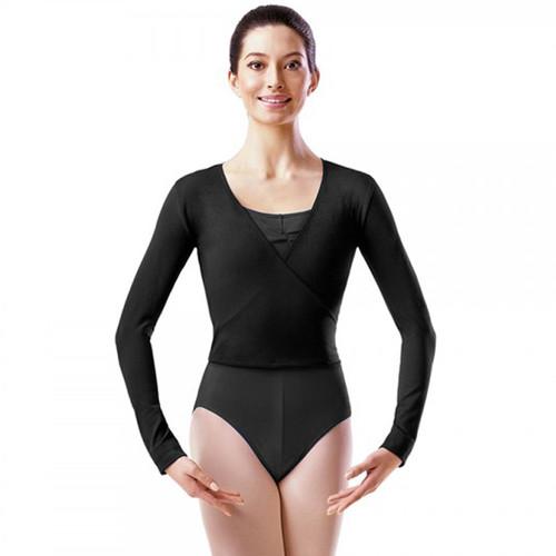 Felton Fleet School Black Cotton X-Over Ballet Wrap