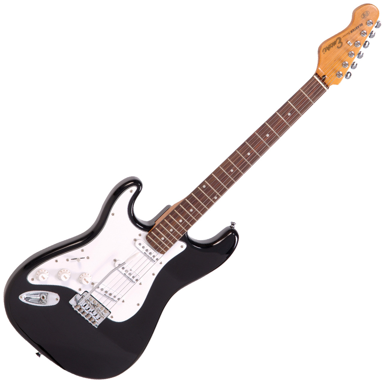 Gloss Black Encore E99 Electric Guitar